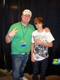 Brett Andrews and Justin Bieber