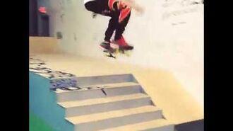 Khalil and Justin Bieber skateboarding