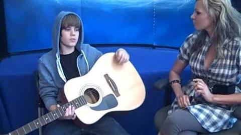 Justin Bieber In Studio