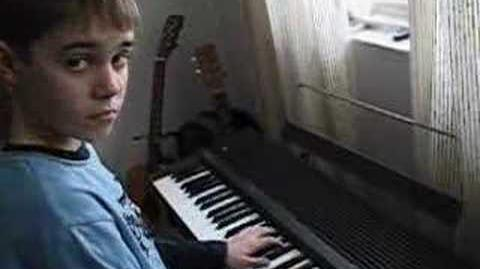 Justin playing Kate's song on the keyboards