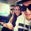 Maejor Ali, Pattie Mallette and Justin Bieber