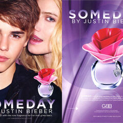 JUSTIN BIEBER Someday 2011 US recto-verso with scented strip (Macy's stores)