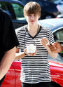Justin eating frozen yogurt