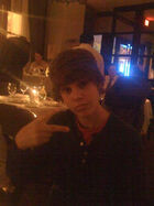 Justin Bieber in a fancy restaurant