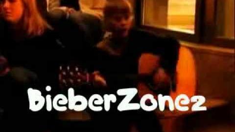 Justin Bieber busking in Stratford Ontario