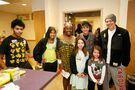 Justin Bieber with young fans at Children's National Medical Center