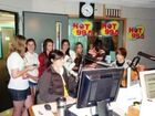Justin and fans on Hot 99.5