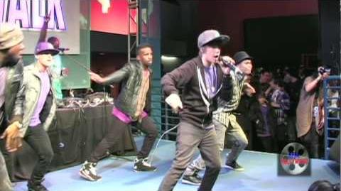 "Justin Bieber performs ""One Time"" live at Universal CityWalk"
