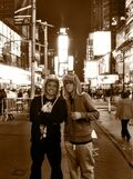Alfredo Flores and Justin Bieber at Times Square