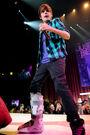 Justin Bieber singing at MEN Arena, 2009