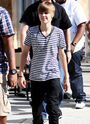 Justin walking in LA, April 2010