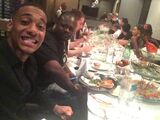 Dinner with the team