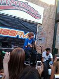 Justin performing One Less Lonely Girl at Cooperstown for 104.7 KISS FM