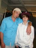 Jeremy and Justin Bieber at the Juno Awards 2010