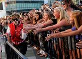 Justin performing at VMA's 2010