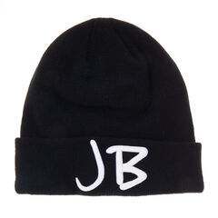 Justin Bieber Beanie Hat<br /><br />For any Justin Bieber fan this is the perfect accessory must have! It will not only have you looking super cool but will keep your head warm and cosy too. This black and white stylish beanie hat features a large embroidered 'JB' on the front and 'Justin Bieber' written on the back. It is the ultimate belieber gift!