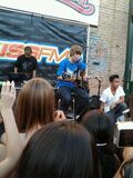 Justin Bieber singing One Less Lonely Girl 104.7 KISS FM