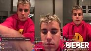 Justin Bieber live on Instagram - March 20th