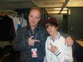 Ronnie Mercer and Justin Bieber at the Juno Awards