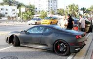 Justin Bieber drives a Ferrari F430 in Miami FL, 2010