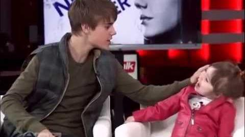 Justin Bieber and little sis Jazzy on etalk