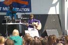 Justin Bieber playing guitar at '09 Family Frenzy