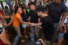Justin Bieber in Tacloban City December 2013