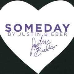 JUSTIN BIEBER Someday 2011 US heart-shaped tester card 9 x 8 cm