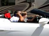 Justin Bieber driving a Lamborghini in 2010