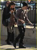 Justin Bieber with Selena Gomez December 2011