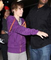 Justin Bieber and Kenny Hamilton at ArcLight 2010