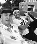 Justin Bieber with Alfredo Flores 2016