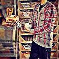 Justin with bread