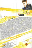 Believe Acoustic booklet