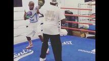 Floyd Mayweather training