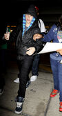 Justin Bieber at Miami International Airport, February 2010