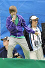Justin Bieber performs during Arthur Ashe Kids' Day 2009