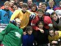 Justin Bieber ice hockey 2010