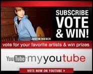 MyYouTube contest Justin Bieber