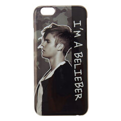 Justin Bieber I'm A Belieber Phone Case<br /><br />If you are a huge Belieber then you need this Justin Bieber phone case! It features a side on black and white image of Justin Bieber himself with 'I'm A Belieber' written down the side. The phone case is compatible with iPhone 6/6S.