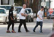 Justin Bieber with Dustin Folkes December 2012