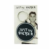 Justin Bieber Black & White Round Keyring