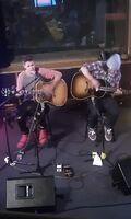 Justin Bieber performing Fall in London