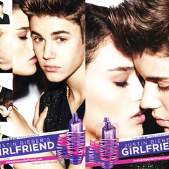 JUSTIN BIEBER Girlfriend 2012 US (recto-verso with scent patch)