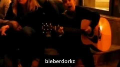 Justin Bieber Singing Sarahbeth