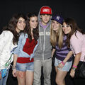 Justin Bieber meeting fans in Madrid