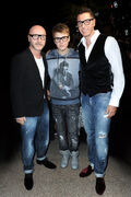 Domenico Dolce, Justin Bieber and Stefano Gabbana