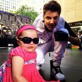 Justin on stage with Avalanna