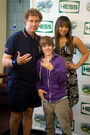 Will Ferrell, Justin Bieber and Jordin Sparks at Arthur Ashe Kids' Day 2009