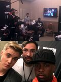 Justin Bieber with Johnny 2015